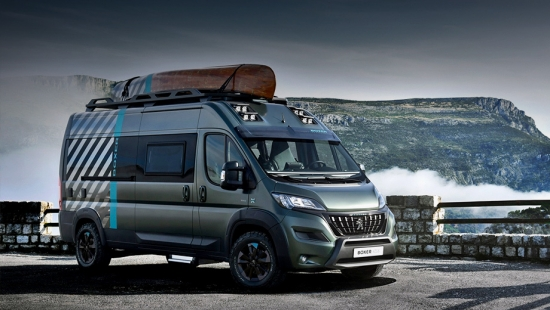 The Peugeot Boxer 4x4 concept with all-wheel drive appeared